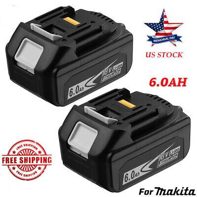1//2 18V For Makita 6AH LXT Li-Ion Battery BL1850 BL1860 BL1840 BL1830 BL1815 LED