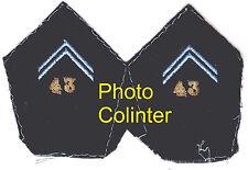 43eme Regt des Transmissions - Ecussons de col d'Officier pour veste mle 1952/58