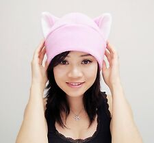 1552a695 item 4 Pink pussy fleece Kitty Cat ear beanie hat cosplay anime manga goth  punk ski -Pink pussy fleece Kitty Cat ear beanie hat cosplay anime manga  goth ...