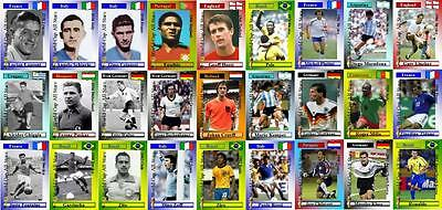 Copa Mundial de fútbol fútbol Legends Series 1 Trading Cards Hurst Pele Maradona