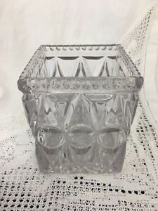 Glass-Vase-Square-Geometric-Design-4-5-Square-amp-5-25-High