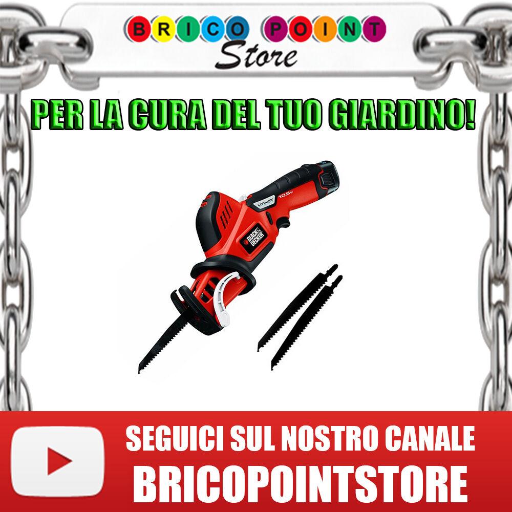 SEGA SEGHE POTATRICI B&D GKC 108 X SEGHE DA GIARDINO 10,8V - 1.5Ah