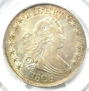 1806-Draped-Bust-Half-Dollar-50C-Coin-Certified-PCGS-AU-Details-Rare-in-AU
