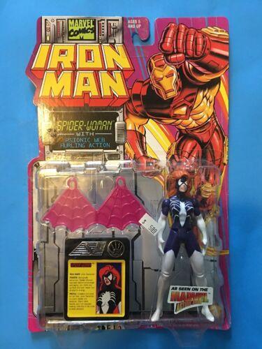 1994 TOY BIZ MARVEL IRON MAN SPIDER-WOMAN JULIA CARPENTER MADAME WEB B-1-1-1