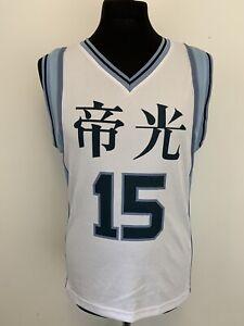 Kuroko's Basketball Kuroko Teiko Team #15 Anime Basketball Jersey Shirt S VGC