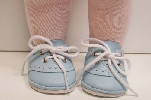 "Solid LT BLUE Saddle Oxfords Doll Shoes For Knickerbocher/'s 16/"" Terri Lee Debs"