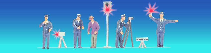 Noch 17553 German Police Staff, illuminated. H0