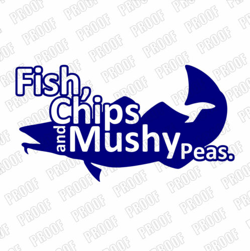 Fish Takaway Stickers Chips /& Mushy Peas Shop Window Decals 550mm x 300mm