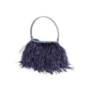 Met federtas Zeldzaamheid handtas tas nachtblauw Tassen struisvogelveren veren tnRq6w