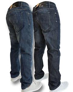 Enzo-Mens-Designer-Regular-Fit-Straight-Leg-Jeans-Sizes-28-034-48-034-BNWT