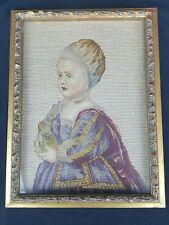 Needlepoint Baby Stuart Van Dyck Child Bonnet Renaissance Flemish Old Master