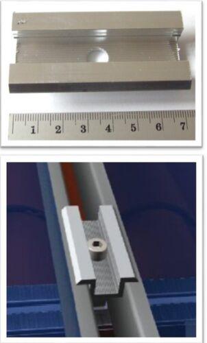 Befestigungsmittel Endklemme Hammerkopf Vorteilspack 1-16x Rahmenhöhe 30mm Photovoltaik-zubehör 50mm Mit Schraube Pv