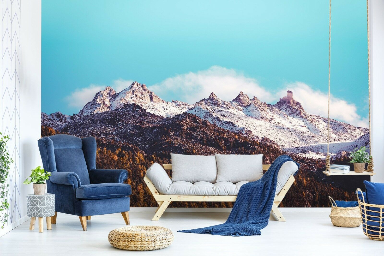 3D Mountain Sky 7064 Wallpaper Mural Paper Wall Print Indoor Murals CA Summer