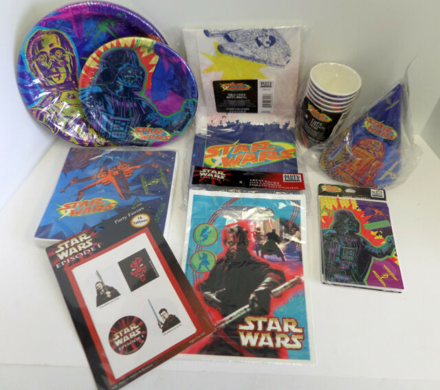 Star Wars Party Supplies - Plates Napkins Favors Hats Treat Bags & more