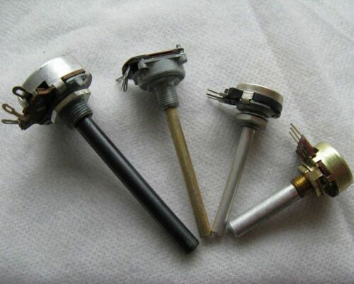 Potenciómetro metal eje 4mm//6mm-mono 500 KOhm 220ohm