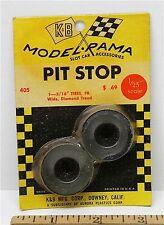 """1965 K&B Aurora 1:24 1:25 Slot Car Pit Stop Parts 1 5/16"""" WIDE DIAMOND TIRES 405"""