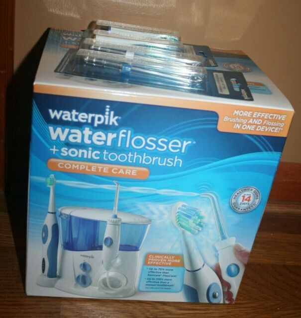 Waterpik Complete Care Water Flosser + Sonic Toothbrush - White New In Box