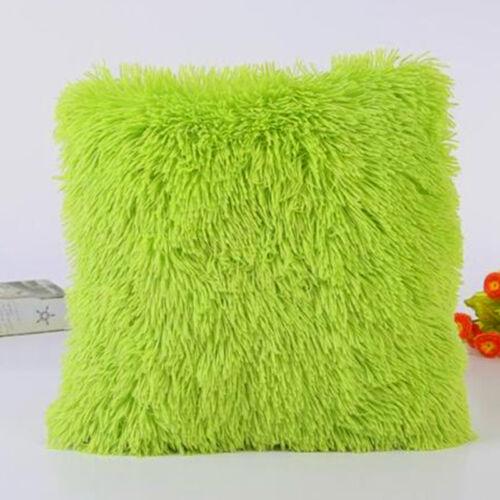 Fluffy Plush Soft Pillow Case Sofa Car Waist Throw Cushion Cover Home Decorative