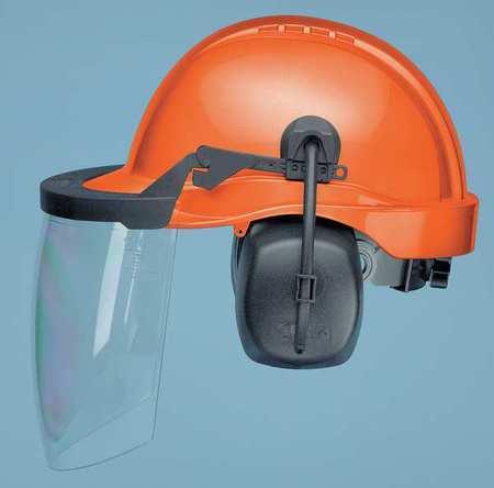 Elvex Cu-30L Loggers Helmet,Orange,Nrr 25