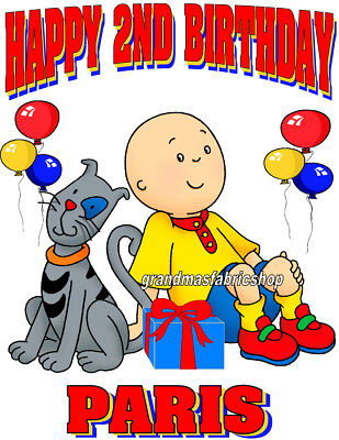 New Caillou Personalized Custom T Shirt Party Favor Birthday present Gift