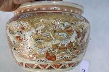 Magnifique  grand cache pot faiences ceramique craquellées asiatique  XIX