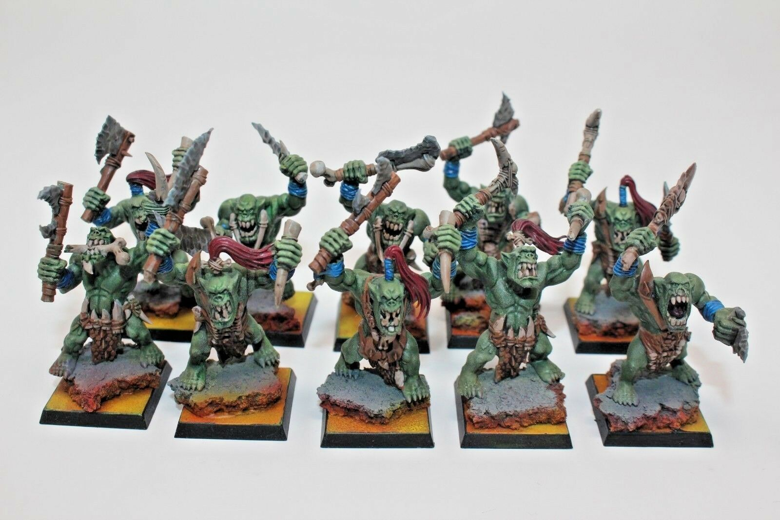 Warhammer Orc And Goblins Savage Orc Boys Well Painted - JYS59