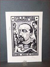 EROTICA Ex-Libris GABRIELE D'ANNUNZIO Originale Firmato TORRO VILMOS De Filippis
