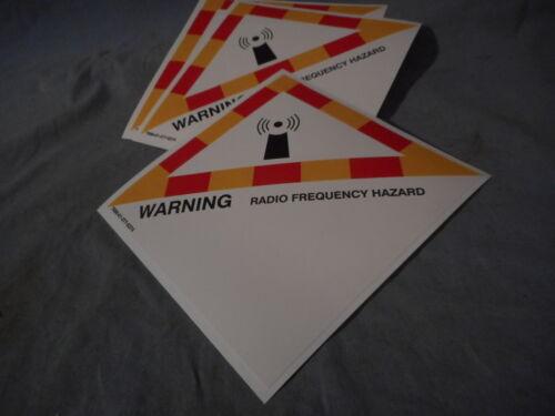 WARNING Radio Frequency Hazard Antenna Label Sticker military M151 M35 M715 M998