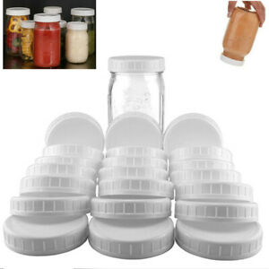 Lots-of-Plastic-Standard-Mason-Jar-Plastic-Lids-Regular-Wide-Mouth-Storage-Caps