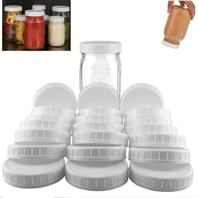 Lots of Plastic Standard Mason Jar Plastic Lids Regular Wide Mouth Storage Caps