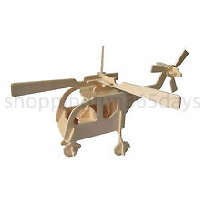 Super 3D Wooden Helicopter Puzzle Construction Puzzle for Kids Top Bestselling