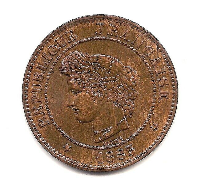 1883-A France Five Centimes---Fabulous Details!!