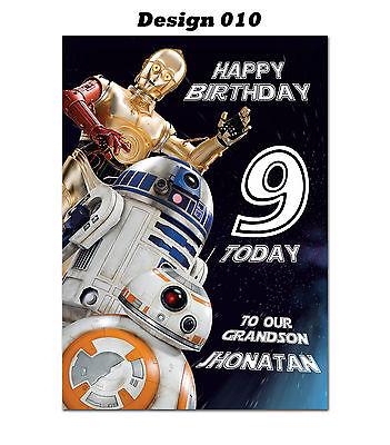 Personalised Birthday Card Star Trek Tout Nom//Age//Relation.
