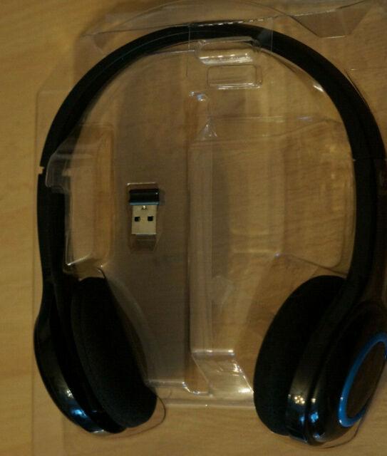 Logitech H600 Schwarz/weiß Kopfbügel Headset für PC ohne OVP/Kabel Kleberreste