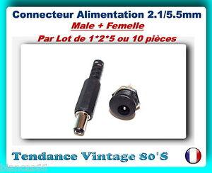 LOT-DE-1-2-5-OU-10-CONNECTEUR-ALIMENTATION-DC-5-5-2-1MM-MALE-FEMELLE
