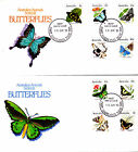 1983 Australian Animal Series III Butterflies on 2 FDC's - East Maitland PMK