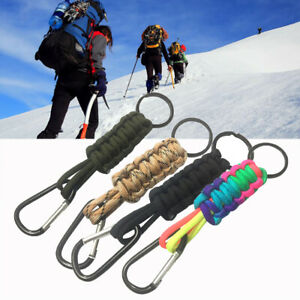 Outdoor Aluminum Alloy Carabiner D-Ring Key Chain Clip Camping Keyring Hook  Be