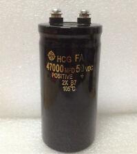 Hitachi Hcg Fa 50v 47000ufmfd 50105 Bolt Electrolytic Capacitor