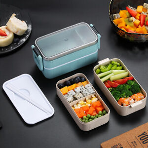 Microwave-Bento-Wheat-Straw-Lunch-Box-Leak-Proof-Picnic-Food-Container-for-Kids
