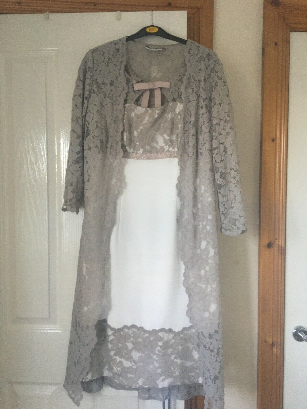 mother of the bride/groom or designer guest outfit c/w handmade fasinator.