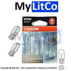 2 x Rear Reg License Number Plate Light Bulb W5W 12V 5W W2.1x9.5d 2825-02B OSRAM