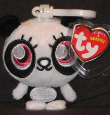 TY KEY CLIPS BEANIE BABY -SHI SHI the SNEEZING PANDA (MOSHI MONSTER) -MINT TAGS