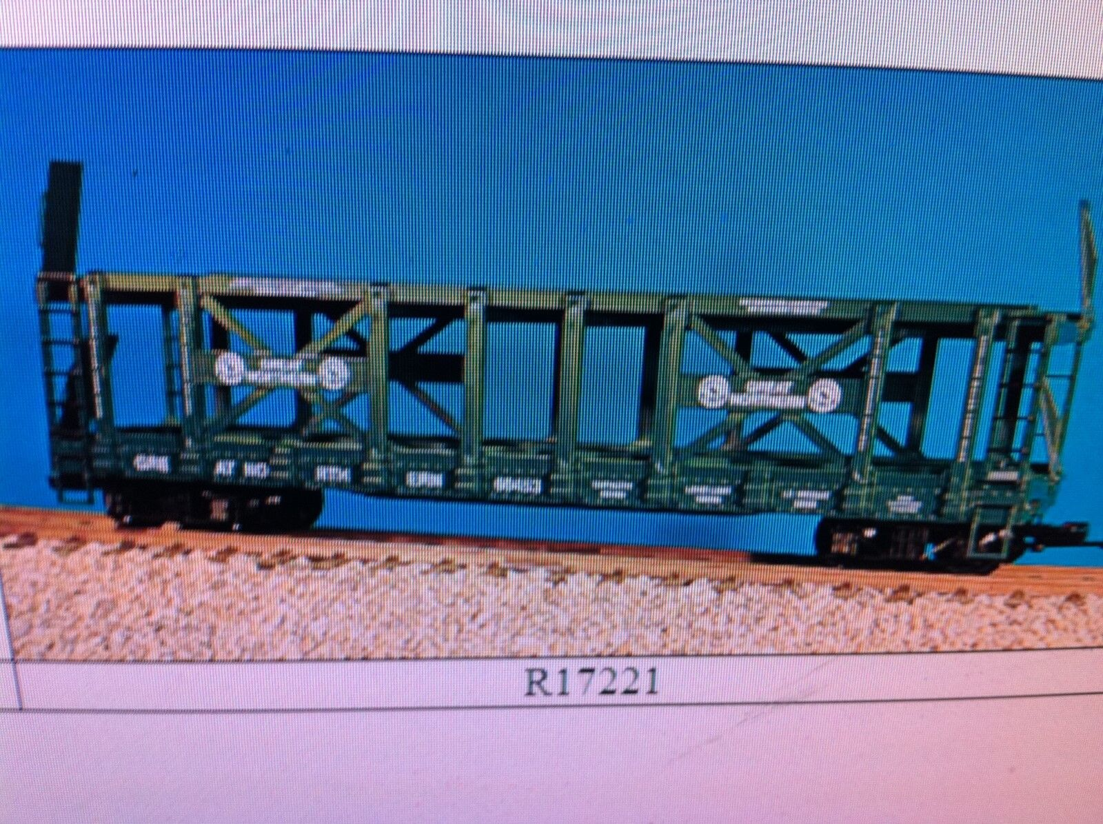 USA Trains G Scale R17221 Two-Tier Auto Carrier Great Northern