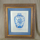 Framed Print  Picture Antique Chinese Blue & White Ming Porcelain Vase Luxury