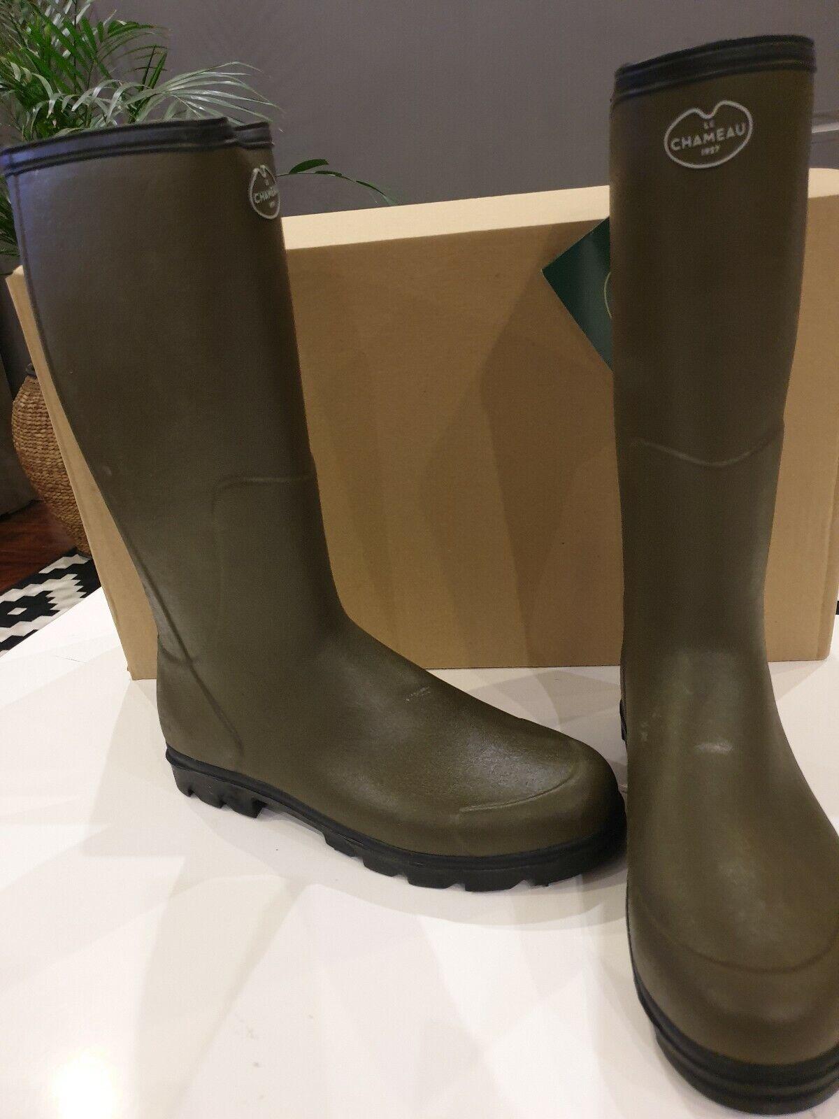 Le Chameau BTE Anjou EVO  Neoprene Lined Boots size 47 green CHAMEAU