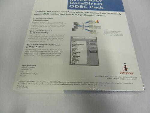 Sealed Vintage Intersolv DataDirect ODBC Pack Computer Software A10