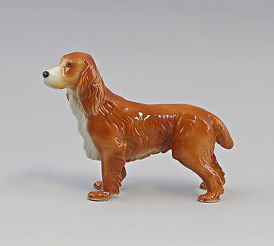 Porzellan Figur Hund Spaniel Rotbraun Wagner&apel 16x12cm 9942477