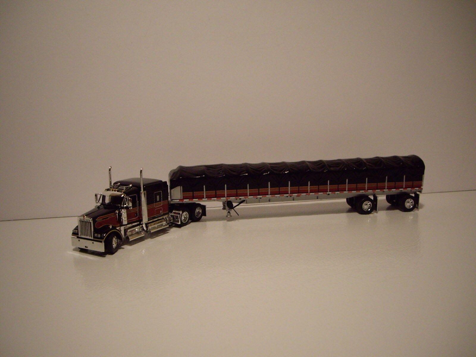 DCP First Gear 1 64 Varner camiones Kenworth W900 con Sleeper & vagón cubierto