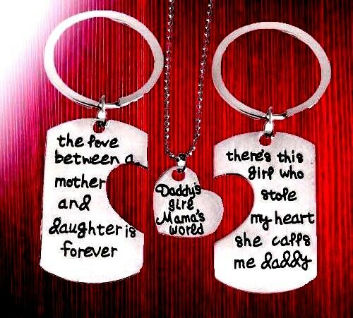 BLACK FRIDAY DEALS SALE gifts for Mum daddy daughter engraved unusual 3 set her