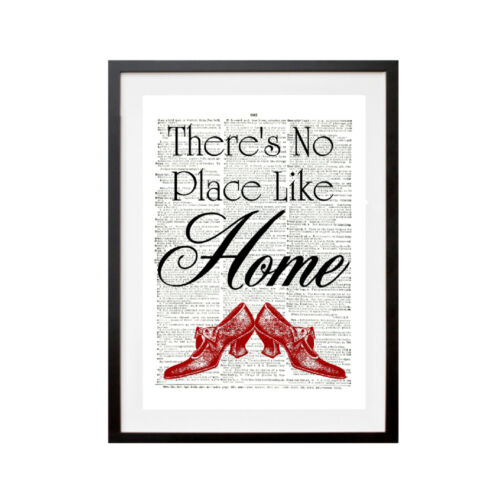 """Style Vintage /""""there is no place like home /'Dictionary page Art Imprimé P009"""